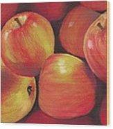 Honeycrisp Apples Wood Print by Anastasiya Malakhova