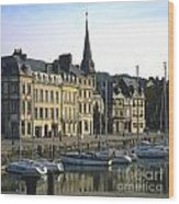 Honfleur Harbour. Calvados. Normandy. France. Europe Wood Print by Bernard Jaubert