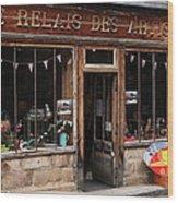 Honfleur Shop Front Wood Print