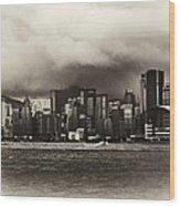 Hong Kong Bay Wood Print