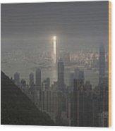Hong Kong From Victoria Peak Wood Print
