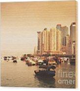 Hong Kong Harbour 02 Wood Print