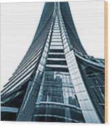 Hong Kong Icc Skyscraper Wood Print