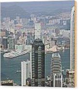 Hong Kong Skyline Wood Print by Lars Ruecker
