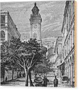 Hong Kong Street Scene, 1880s Wood Print
