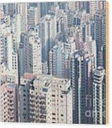 Hong Kong Suburbs Wood Print