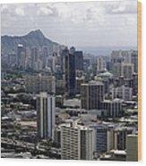 Honolulu - Diamond Head - Pacific Wood Print