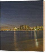 Honolulu Evening Wood Print