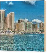 Honolulu Hi 2 Wood Print