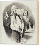 Honoré Daumier French, 1808-1879, Les Crêpes Wood Print