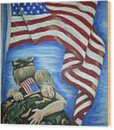 Honor Our Troops Wood Print