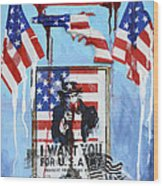 Honor The Brave Wood Print