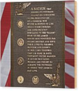 Honor The Veteran Signage With Flags 2 Panel Composite Digital Art Wood Print