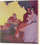 Honore De Balzac With His  Greatest Wood Print