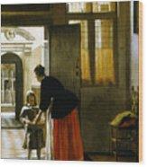 Hooch Boy & Bread, C1663 Wood Print