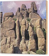Hoodoo In The Superstition Mountains Wood Print