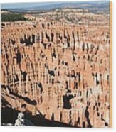 Hoodoos Of Bryce Canyon  Wood Print