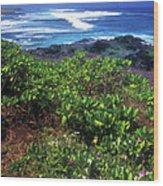 Hookipa Beach Flowers Maui Hawaii Wood Print