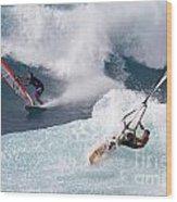 Ho'okipa Windsurfers Wood Print