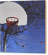 Hoop Dreams Wood Print by Jason Politte