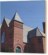 Hoosick Falls Church Wood Print