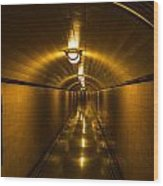 Hoover Dam Art Deco Tunnel Wood Print