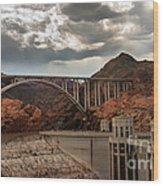 Hoover Dam Bridge Wood Print