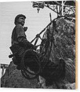Hoover Dam Climber Wood Print