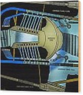 Hoover Dam Diagram Wood Print