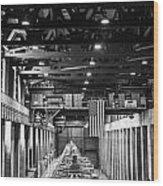 Hoover Dam Generators Wood Print