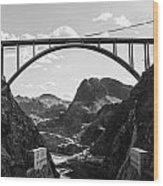 Hoover Dam Memorial Bridge Wood Print