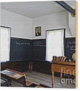 Hoover Historic Site Schoolhouse Classroom Wood Print