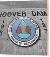 Hoover Logo  Wood Print