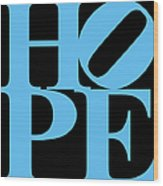 Hope 20130710 Blue Black Wood Print