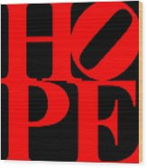 Hope 20130710 Red Black Wood Print