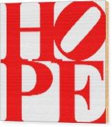 Hope 20130710 Red White Wood Print