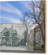 Hope Club And First Unitarian Church In Providence Ri Wood Print