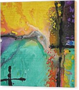 Hope - Colorful Abstract Art By Sharon Cummings Wood Print