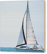 Hope Floats Sailboat From The Book My Ocean Wood Print by Artist and Photographer Laura Wrede