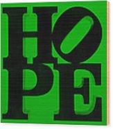 Hope In Green Wood Print
