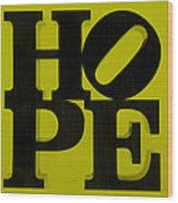 Hope In Yellow Wood Print