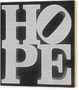 Hope Inverted Black Wood Print