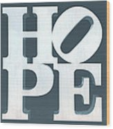 Hope Inverted Denim Wood Print