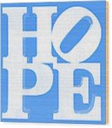 Hope Inverted Light Blue Wood Print
