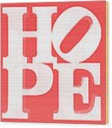 Hope Inverted Red Wood Print