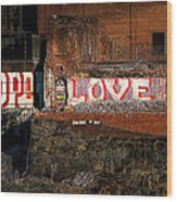 Hope Love Lovelife Wood Print