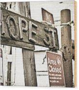 Hope Street Wood Print