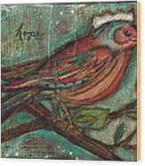 Hope Will Fly Wood Print