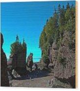 Hopewell Rocks2 Wood Print