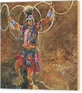 Hopi Hoop Dancer Wood Print